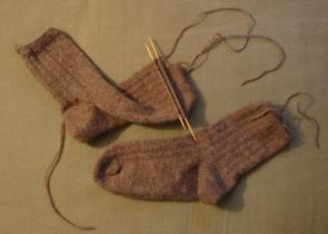 brown socks