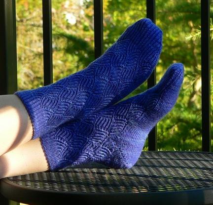 Ripple Weave Socks