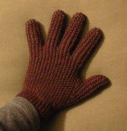Garter Stitch Glove